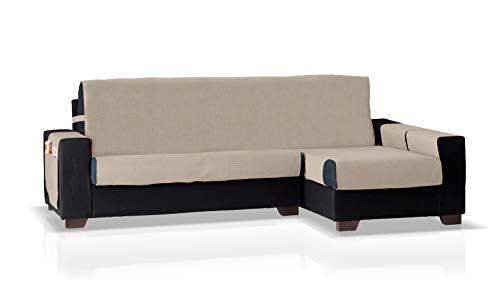 Bartali Funda de sofá Chaise Longue GEA, Brazo Derecho, Tamaño pequeño (200 Cm.), Color Beige