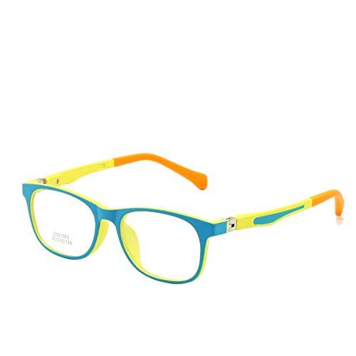 EnzoDate EnzoDate Kinder Brille TR90 Größe 45 Safe Biegsam mit Federscharnier Flexible Optischen Rahmen Jungen Mädchen Kinder Brillen Plano Objektive