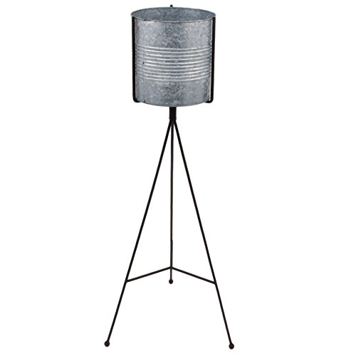 Laterne Stylo Simple Vintage Design Metall grau Windlicht (80x20x34cm)