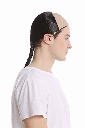 WIG ME UP ® - 91015-ZA103 Parrucca Uomo Carnevale Halloween Qing Dinastia Cina Cinese Treccia Mezza pelata