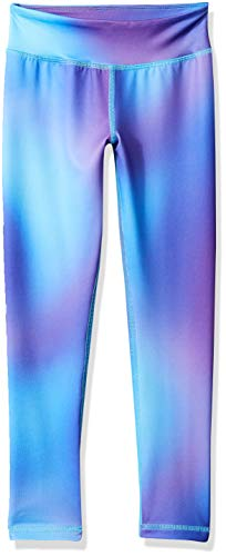 Amazon Essentials Little Girls' Full-Length Active Legging, Ombre Purple, S