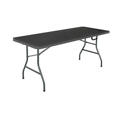 Mainstays 6#039 Centerfold Folding Table White or Black Black