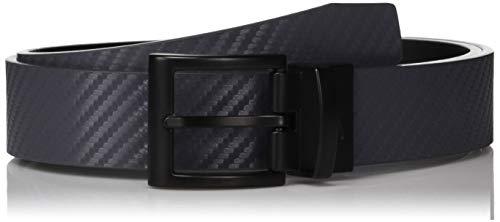 Nike Jungen Carbon Fiber Textur Reversible, Jungen, Gürtel, Carbon Fiber Texture Reversible, Dunkelgrau / Schwarz, Large
