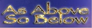 Bumper Planet - Bumper Sticker - As Above So Below, Pagan - 3 x 10 inch - Vinyl Decal Professionally Made in USA