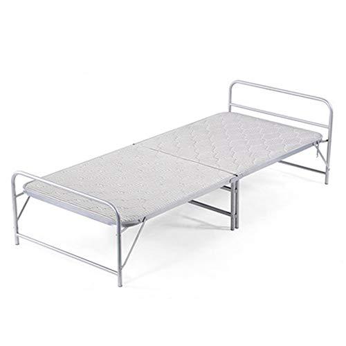 Kampeerbedjes, opklapbaar kampeerbed, eenpersoons bed voor thuiskantoor, stapelbed in het midden, gemakkelijk te vouwen