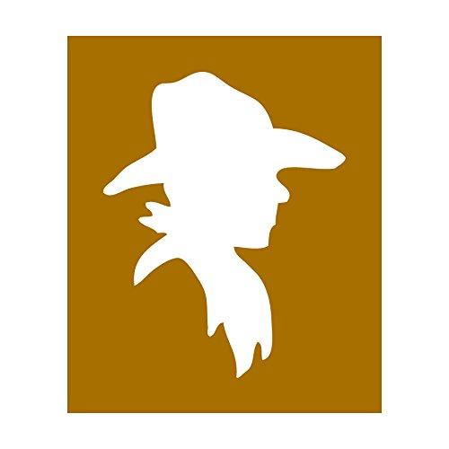 Auto Vynamics - Stencil-Cowboy-Profile - Cowboy Head Profile Individual Stencil from Detailed Cowboy/Wild West Stencil Set! - 8.5-by-10-inch Sheet - Single Design