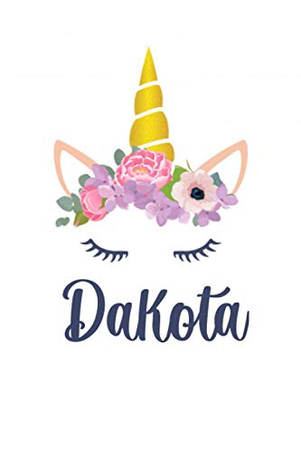 Dakota: Personalized Name Lined Journal Diary Notebook 120 Pages, 6' x 9' (15 x 23 cm), Durable Soft Cover - Perfect Gift For Mom For Birthdays, Christmas, Appreciation & Encouragement ...