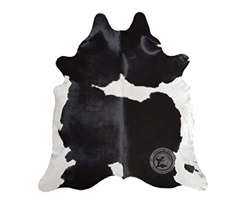 Alfombra de Piel de Vaca Negra y Blanca 220 x 200 cm - Pieles del Sol
