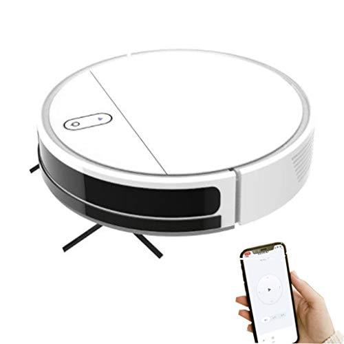 Robot Aspirador 1200 Pa, Compatible con Alexa Y Google Home, Aspira, Barre, Friega Y Pasa La Mopa, Cepillo Especial Mascotas,White