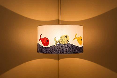 Lámpara de techo habitación infantil, dibujos originales en papel, hecha a mano. Decorativa. Regalo de nacimiento, cumpleaños.