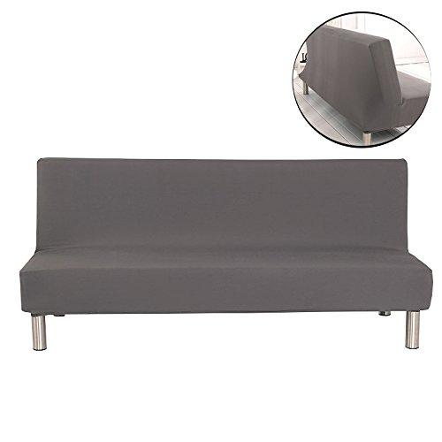 Surenhap Einfarbig Stretch Sofabezüge Schutzhülle ohne armlehnen,Faltbar und Elastisch Sofaüberwurf (Grau)