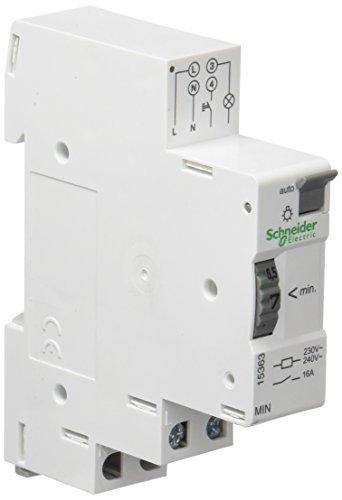 Schneider 15363 Elektromechanischer Treppenlichtzeitschalter MIN, 1 bis 7 Minuten, Blanc, 2x7x8 cm