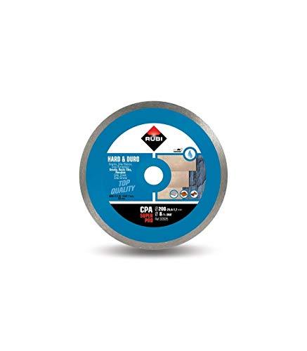Rubi 30926 Disco Diamante material duro contínuo (CPA) 200 SUPERPRO, Gris, 200 mm