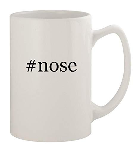 #nose - 14oz Ceramic White Statesman Coffee Mug, White