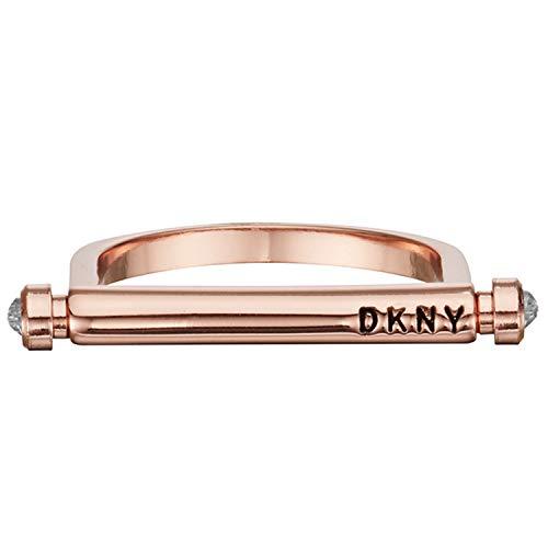 DKNY Anillo para Mujer Latón con Piedra Talla 15