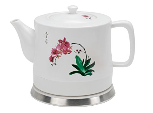 FixtureDisplays Teapot, Ceramic w/Electronic Steeping/Warm Station 12030