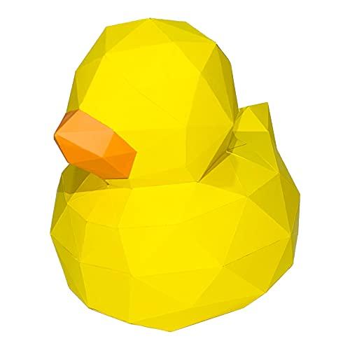 PEPABOX Craft Duck/Ente 3D Papiermodell Dekoration zum Basteln