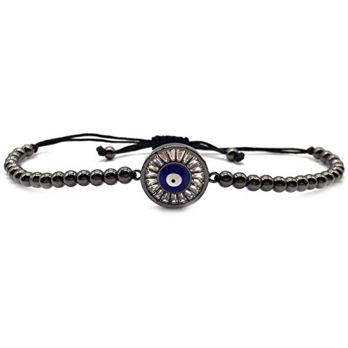 WHFDRHSZ Bangle Armband Luxe Mode Trendy Mannen Armband Diy Oog Bedel Beaded Armband Voor