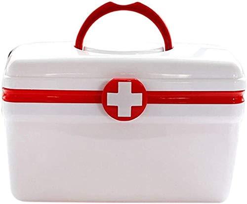 YBZJ Hogar Caja de la Medicina, la Caja Portable de la Medicina Recipiente de Almacenamiento for el Viaje de Camping Inicio Organizador de Oficina 10.26
