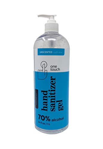 One Touch Advanced Hand Sanitizer Gel with Aloe Vera (34 oz -Single)