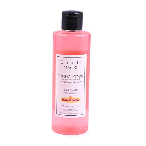Khadi Mauri Herbal Khadi Mauri Cleansing and Toning Lotion with Pomegranate and Lemon Extracts, 210ml