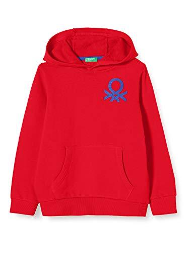 United Colors of Benetton Jungen Felpa Pullover, Rot (Rosso 015), 158 (Herstellergröße: EL)