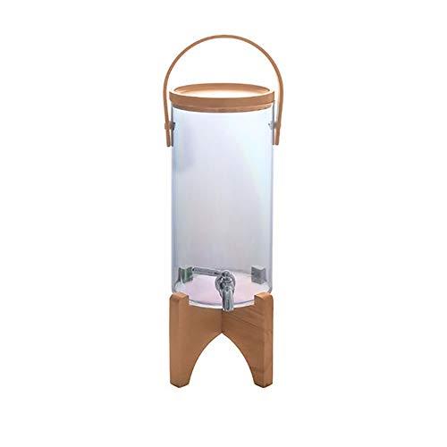 Cafetera de cerveza Jugo de vidrio Barril Base de madera portátil Dispensador Dispensador de agua 2.8ltr dispensador de la cerveza fácil de limpiar. Adecuado para barras caseras y fáciles de limpiar