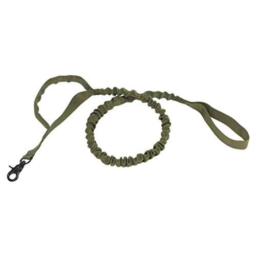 1 handgreep in de open lucht verstelbare tactische hondenriem trainingshonddelijn legergroen