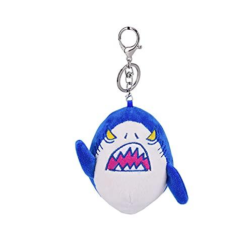 Ownlife Funny Shark Llavero de Peluche Llavero de Peluche Charm Llaveros Lindo Decorativo para niños Bolsa, Bolso, Mochila, Llavero de Bolso (Color : Blue)