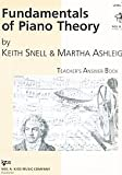 Fundamentals of Piano Theory, Level 8 - Answer Book By Keith Snell, Martha Ashleigh. For Piano. Method Book. Neil A. Kjos Piano Library. Level 8. Answer Book.