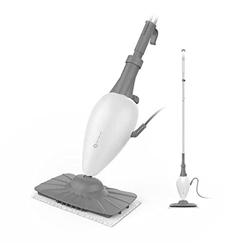 SDHKE Household Steam Mop, High Temperature pulitore a Vapore, Elettrico Mop Handheld, Bianco