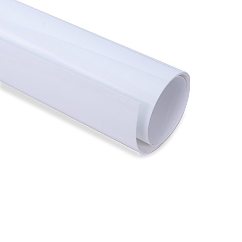 Flocked White Heat Transfer Vinyl Bundle 12 x3.2ft (2 Sheets12x20 /Pack) for T Shirts, Fabrics and Hats