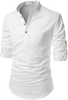 Life Roads Cotton Men's Casual Slim Fit Shirt