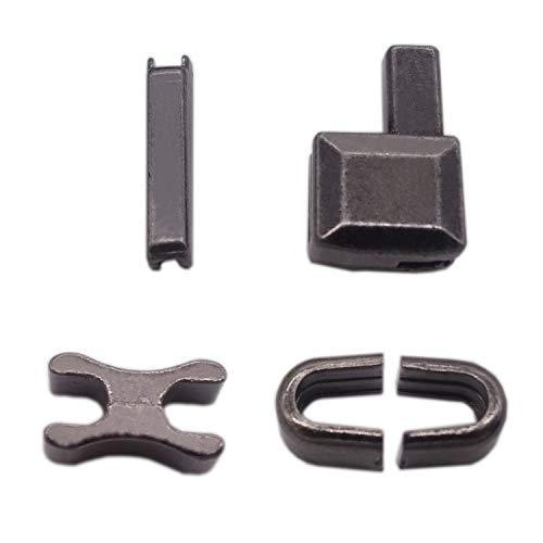 Warmsky 10sets #10 Metal Zipper Repair Kit Zipper Head Box Zipper Sliders Retainer Insertion pin Easy for Zipper Repair (Dark Gray)