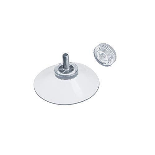 DIYexpert® 12 x Saugnapf Ø 40 mm mit Gewinde M4x10mm inkl. Rändelmuttern transparent - Made in Germany