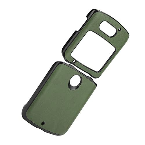 Handyhüllen Stoßfeste Handy Lederhülle Handy Lederhülle Hülle für Motorola Handy Lederhülle für Motorola Razr 5G(Green)