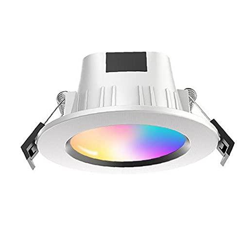 Led Empotrable Downlight Teléfono Inalámbrico Controlado Smart RGB Spotlights, Luces Interiores