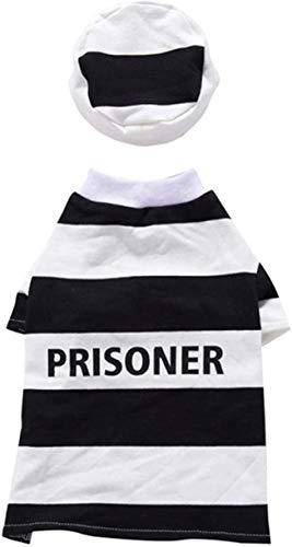 Ronglibai ropa perro Prisionero perro de disfraces de Halloween de perrito de Halloween cosplay ropa for perros ropa con sombrero de fiesta de Pascua de Halloween Perros de vestir, for grandes, median