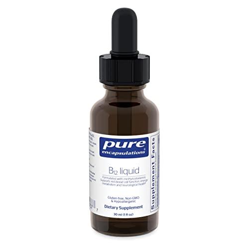 Pure Encapsulations - B12 Liquid - 1,000 mcg Vitamin B12 (Methylcobalamin) Liquid for Nerve Health and Cognitive Function - 1 fl. oz