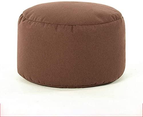 JYHS Reposapiés otomano de alta elasticidad ESP partículas, sofá perezoso, taburete suave, decoración de salón, oficina, color natural, cómodo (color: marrón)