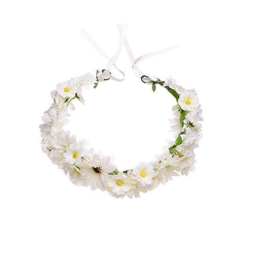 HkFcle (2 Stück) Frauen-Mädchen-Blumenkranz Krone, Garland Stirnband, Sonnenblume Blumenkranz Zubehör