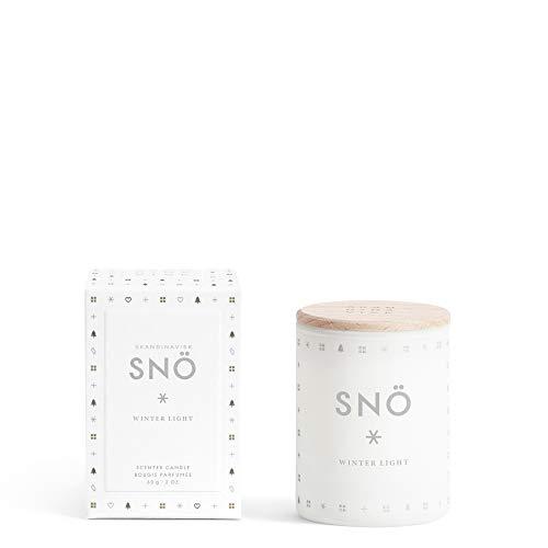 Skandinavisk SNÖ sneeuw mini geurkaars