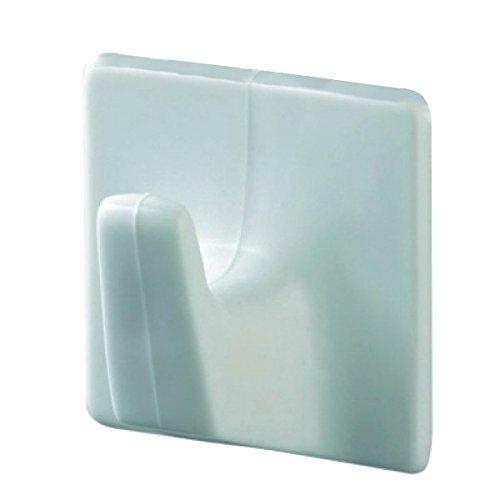 Haceka Haken Hanging Systeem hoekig groot 2 stuks in wit, metaal, zilver, 15 x 15 x 9 cm, 2 stuks
