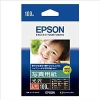 (まとめ) エプソン EPSON純正プリンタ用紙 写真用紙(光沢) KL100PSKR 100枚入 【×3セット】