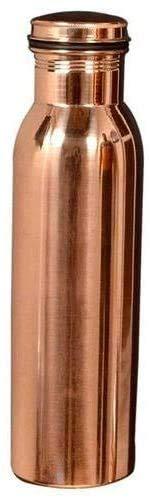 Ratna Kupferflasche Trinkflasche Trinkflasche 100% Kupfer Flasche Wasser mit Deckel Ayurvedische Kupfer Wasserflasche Kupfer Wassergefäß Trinken mehr Wasserflasche