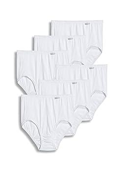 Jockey Women s Underwear Plus Size Elance Brief - 6 Pack White 8