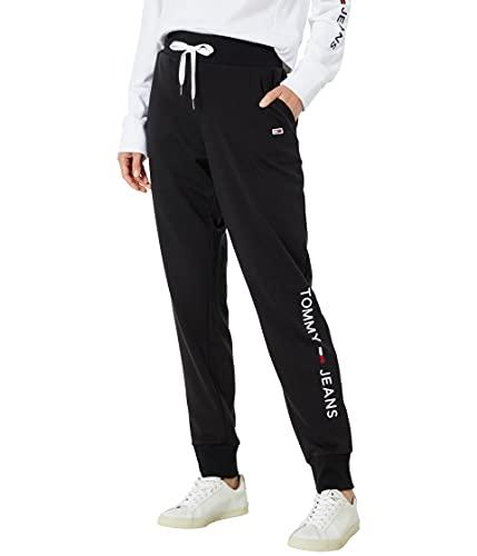 Tommy Hilfiger Women's Jogger Pants, Black, Medium