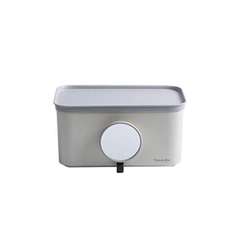 Pufee Toalla de Papel Dispensador de Toallas de Papel Plegado montado en la Pared Sin Perforaciones Soporte de Papel higiénico Impermeable 24 * 13,4 * 12,4 cm Paquete de 1