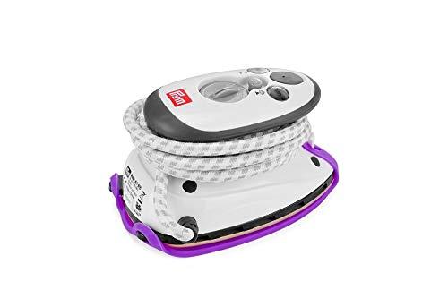 Prym Dampfbügeleisen Mini inkl. BabySnap Reisebügeleisen-Ablage (lila)