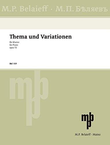 Thema und Variationen fis-Moll: op. 72. Klavier.